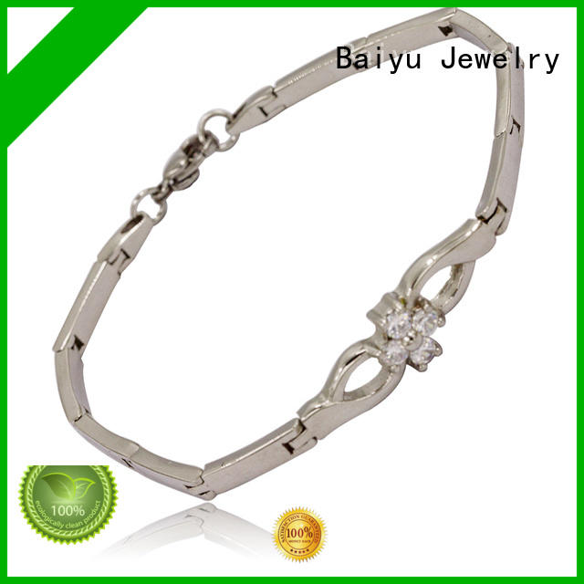 stainless steel bangle bracelets high-end for lovers Baiyu Jewelry