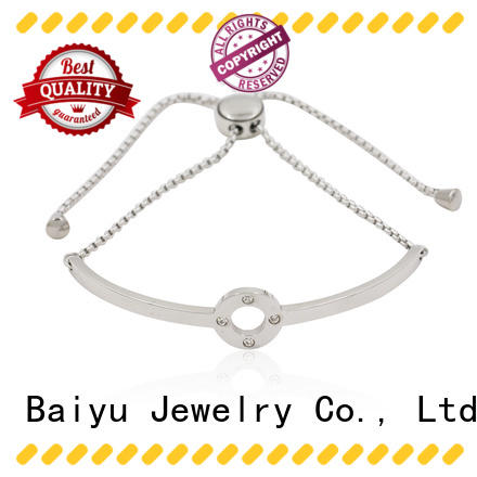 Baiyu Jewelry fashion stainless steel bangles with stone use for engagement