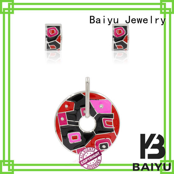 Baiyu Jewelry Brand arrival material vintage enamel jewelry color factory