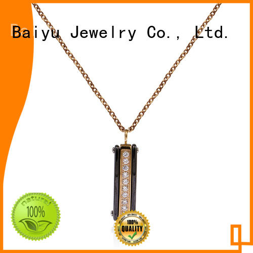 long linked chin stainless steel necklace chain wholesale at discount Baiyu Jewelry