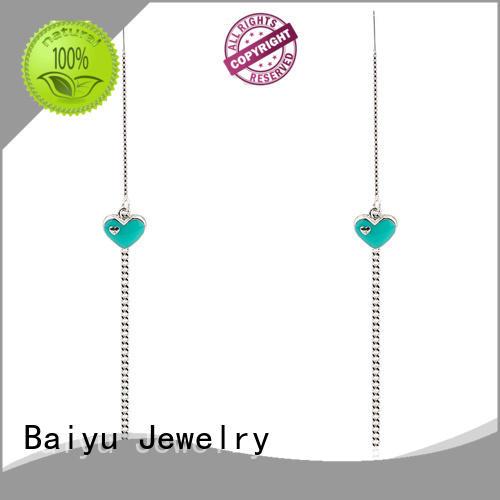 Korean Heart Earring 925 Sterling Silver Muti-color Jusnova Silver AE50176