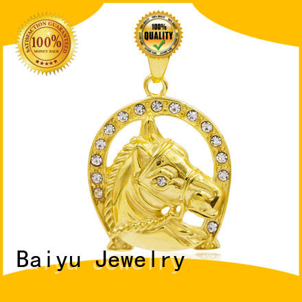 Baiyu Jewelry crystal stainless steel pendant charming for girls