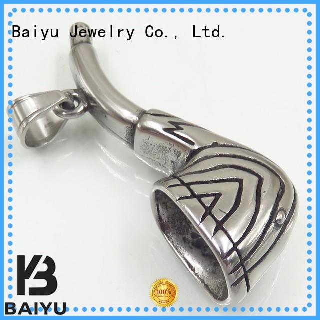 Wholesale irregular fashion stainless steel pendant Baiyu Jewelry Brand