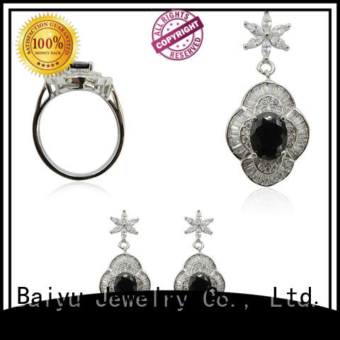 graceful sterling silver jewelry sets necklace for ladies