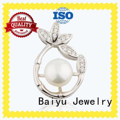 Baiyu Jewelry white zircon sterling silver pendants luck bird for friend