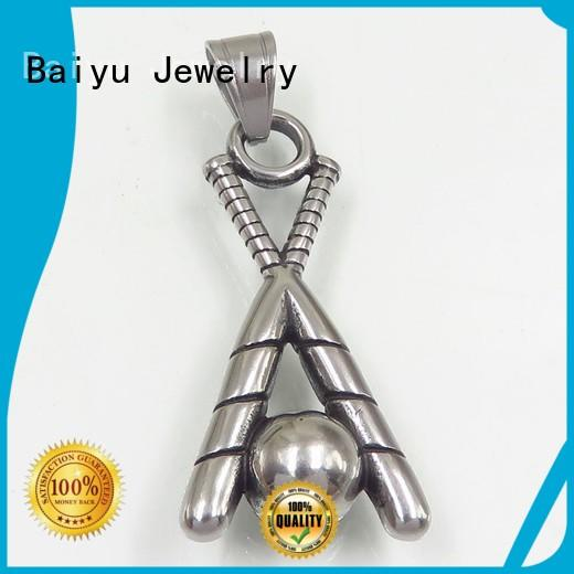 three-dimensional stainless steel necklace pendants free sample Baiyu Jewelry