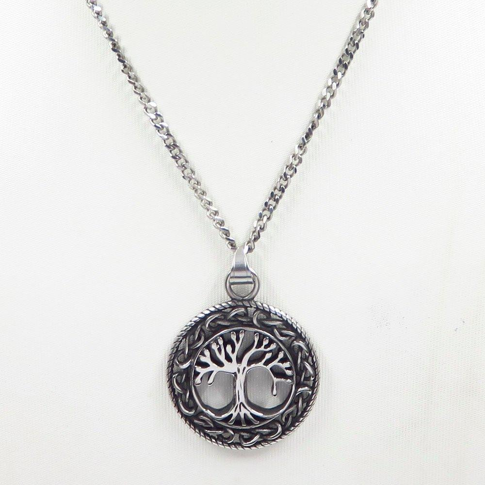 Jewelry Online laser cut tree pendant for necklace