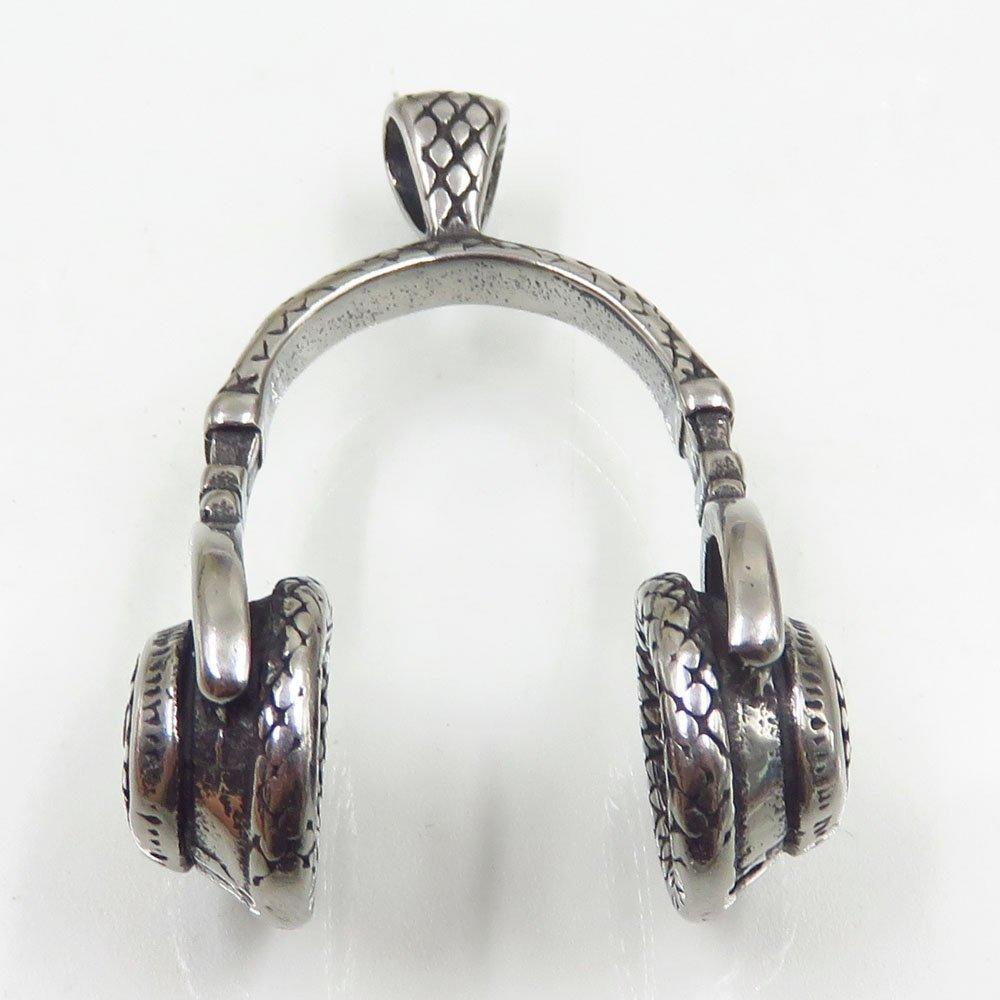 Baiyu high polished stainless steel jewelry headset shape jewelry pendant