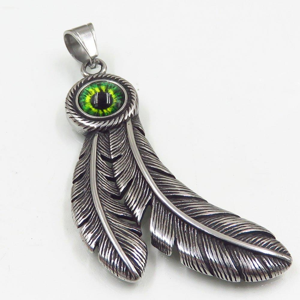 Promotional custom fashion feather metal pendant