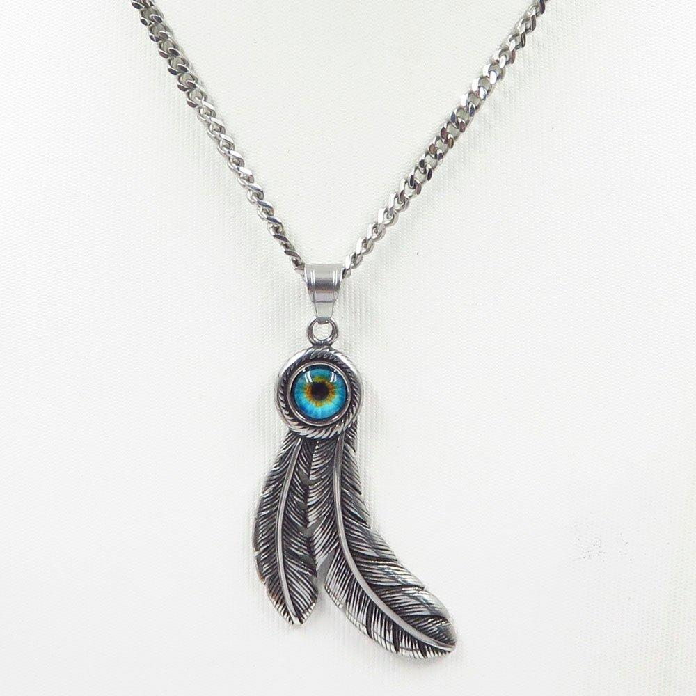 Women friend stainless steel feather jewelry pendant