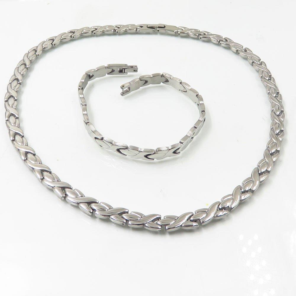 Stainless steel wholesale chain necklace and bracelet set