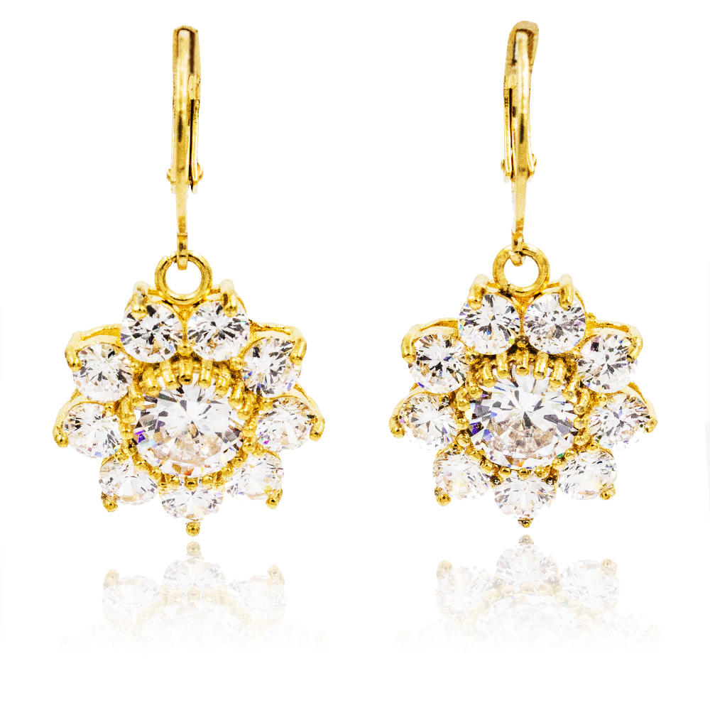 Fashion design jewelry 18k gold color dangle earrings