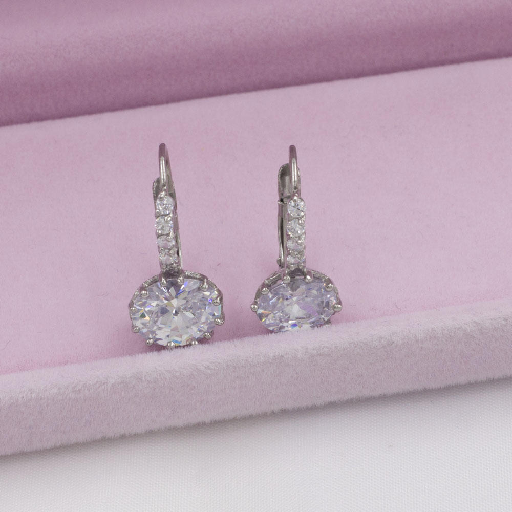 Korea style latest luxury design ladies crystal earrings for party