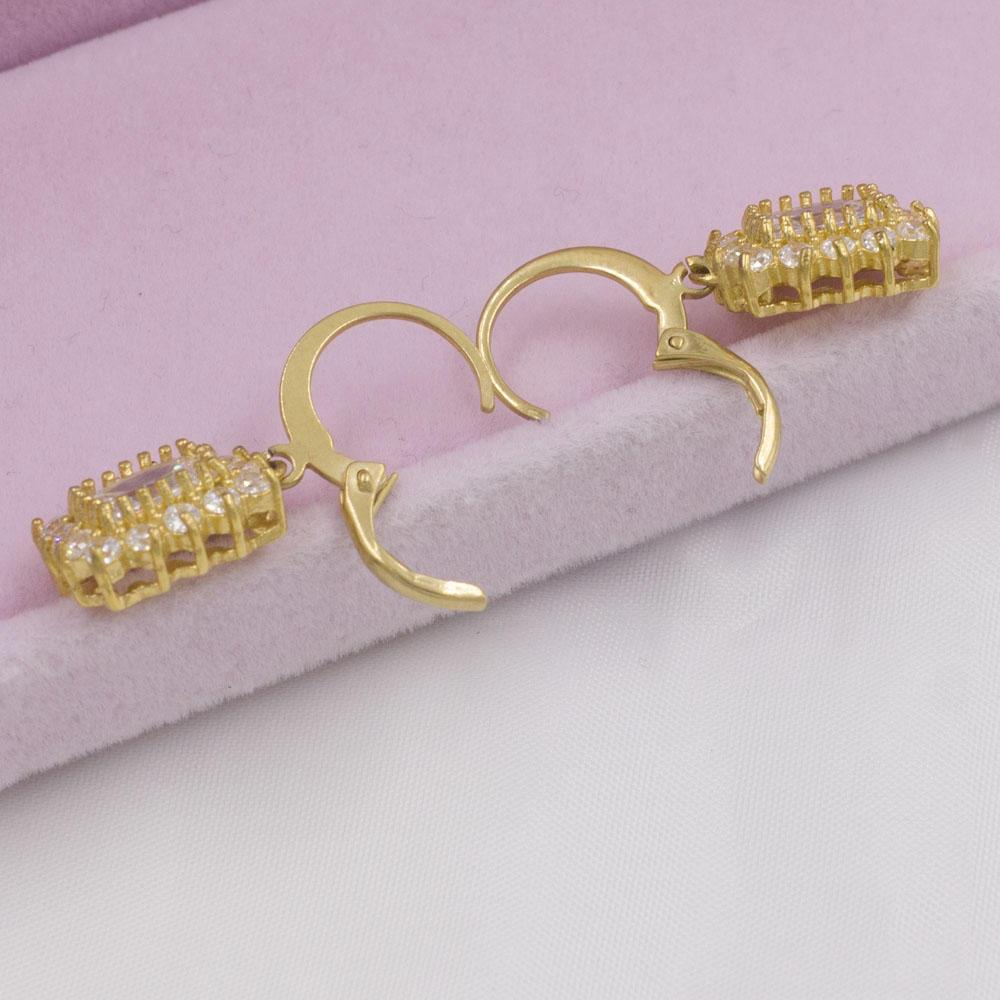 2018 Rectangle shape 18K gpld plated women earrings