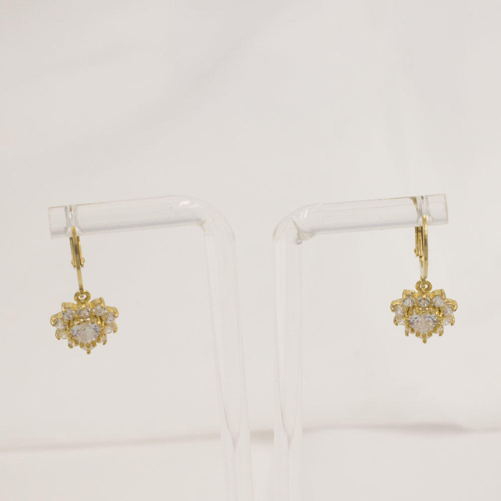Excellent design gold plated love heart earrings