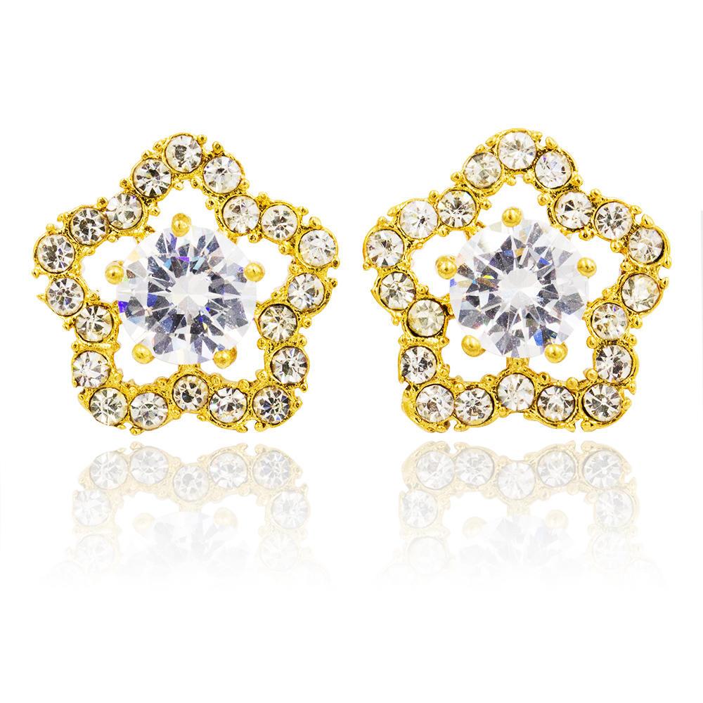 2018 Baiyu original design stainless steel flower earrings from factory