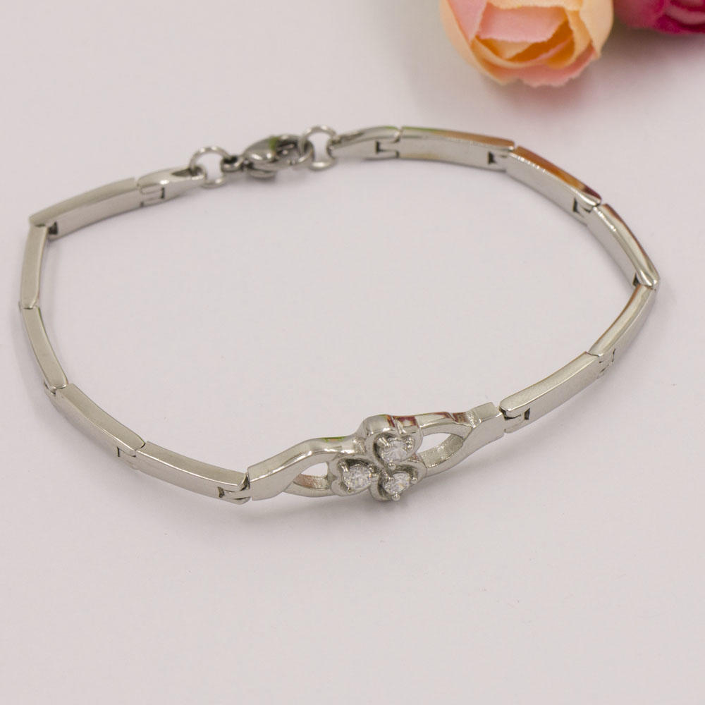 2019 Fashionable 4mm stainless steel stone bracelet for women