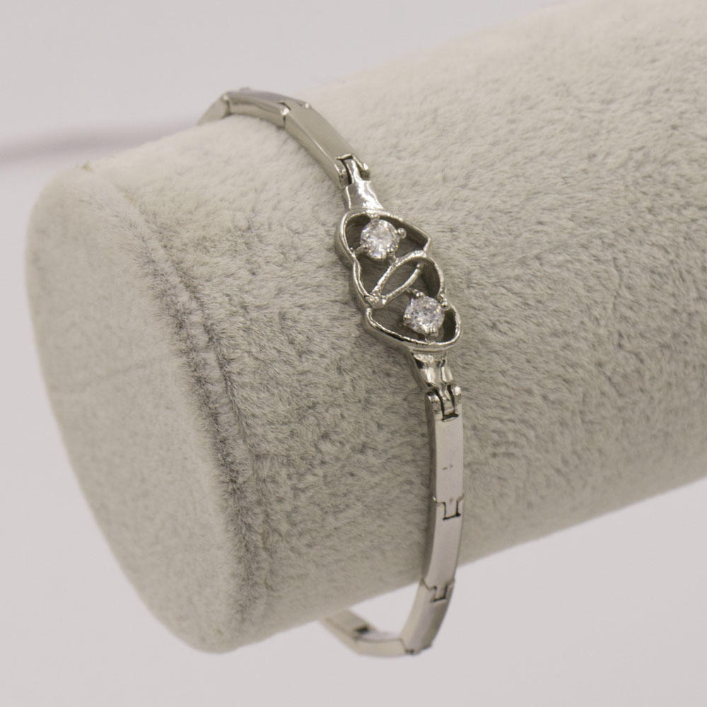 Good quality double heart crystal bracelet jewelry bangle for party