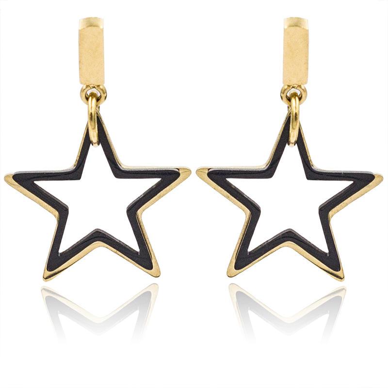 Baiyu 14mm personalized stars dangle earrings