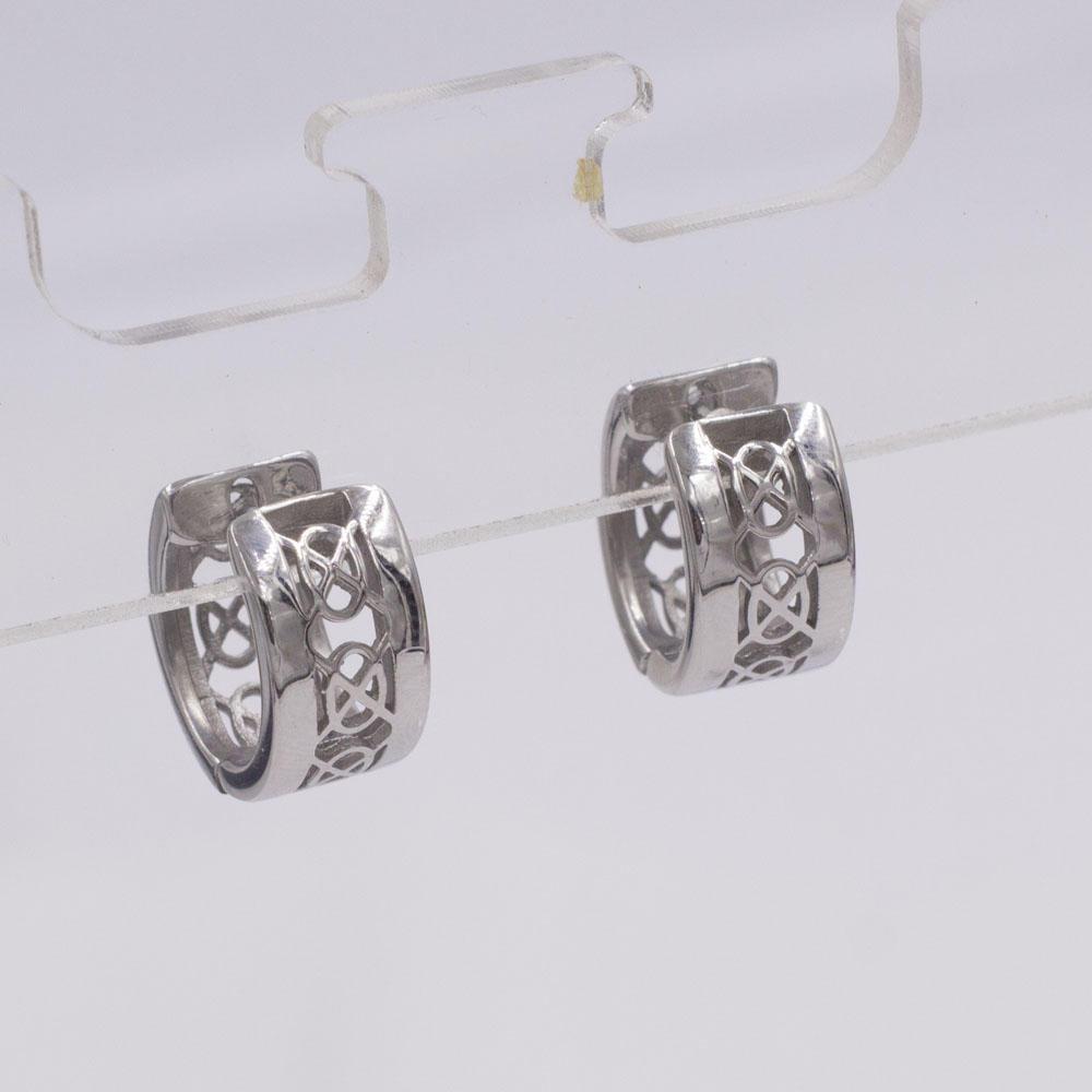 Cheap wholesale stainless steel hollow hoop earrings