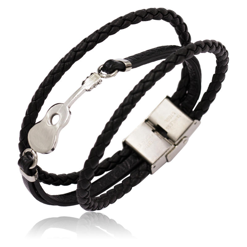 Mens bracelets bangles leather bangles for european and american markets