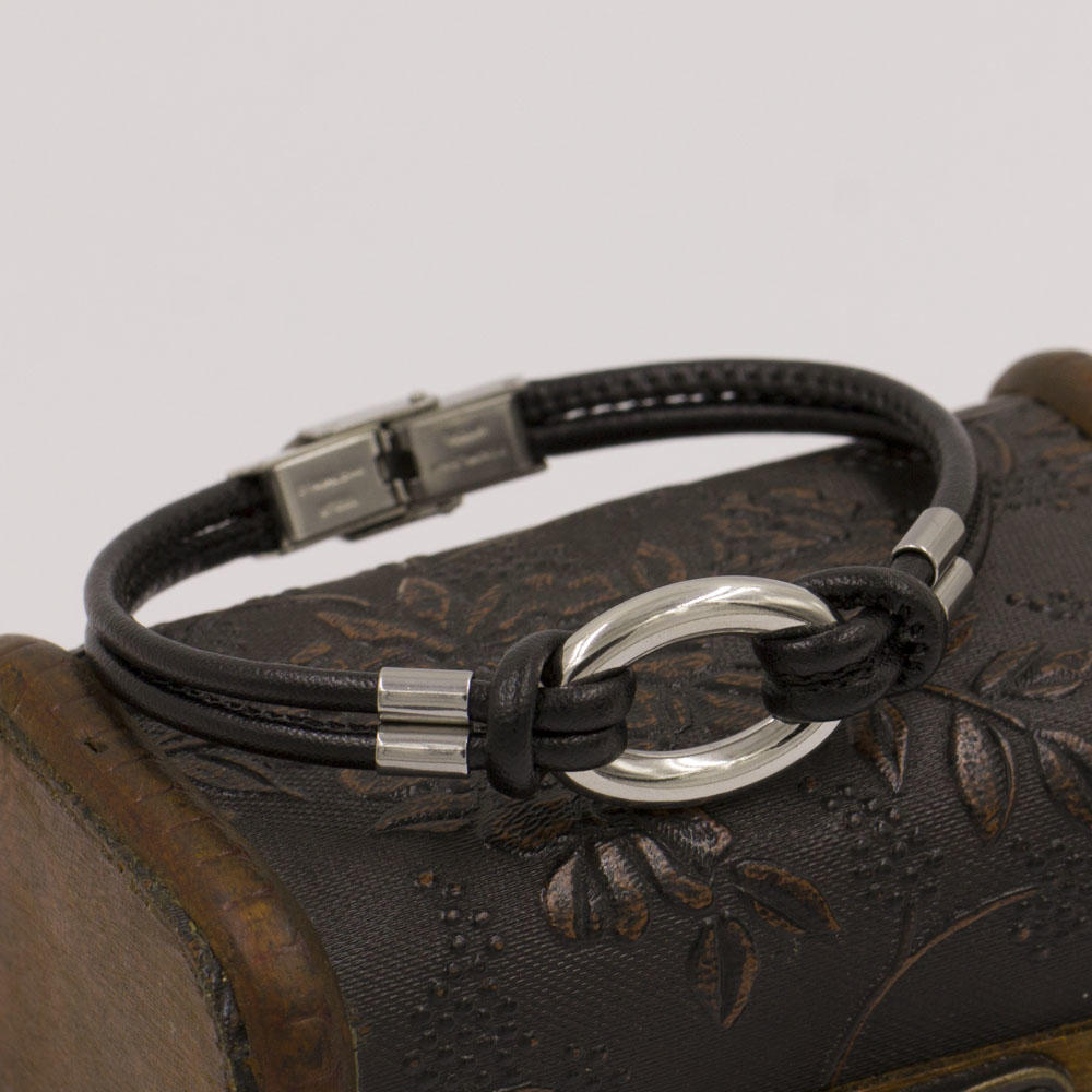 European style popular fashion stainless steel charms bangle, accessories for leather bracelet