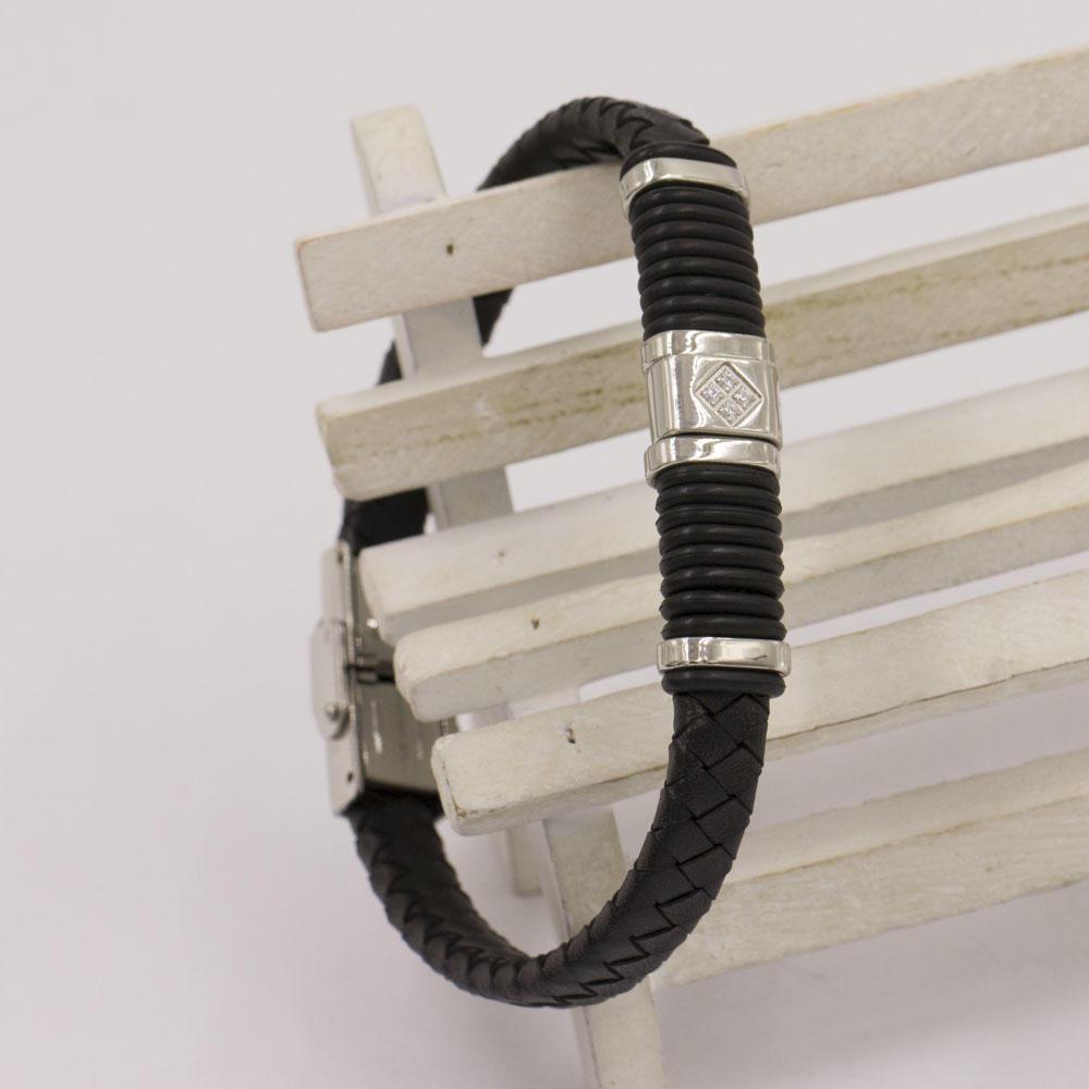 Braiding wrist strap high quality stainless steel and sex bangle charm bracelet