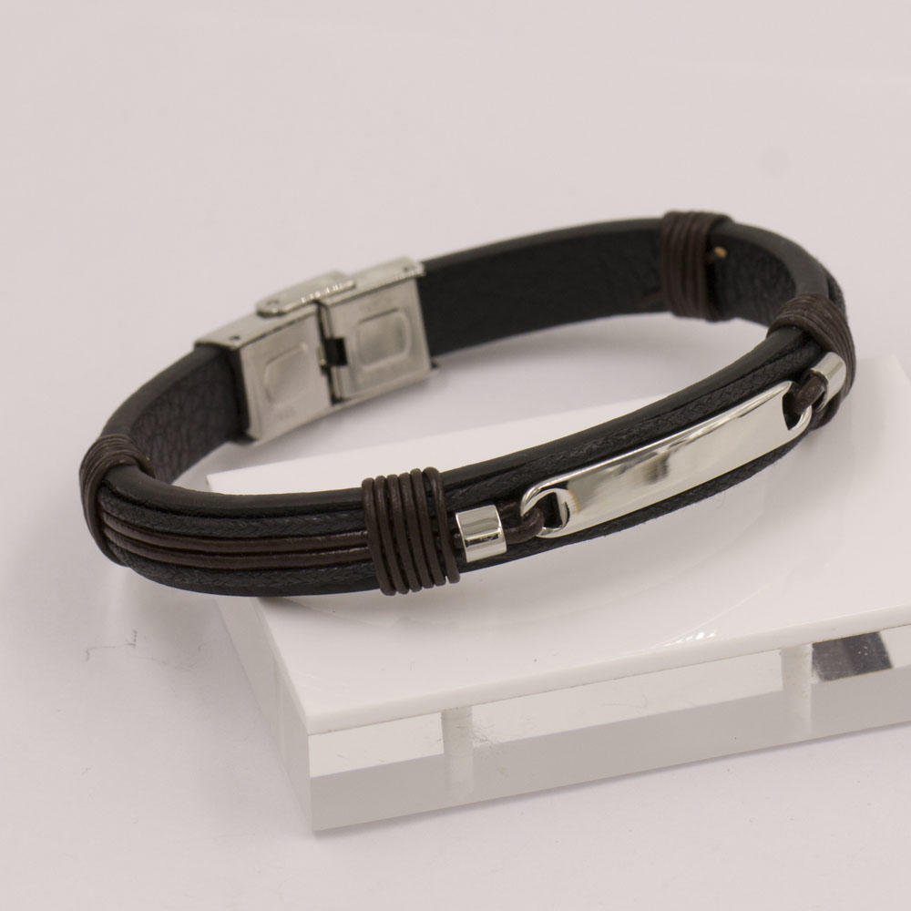 Unique buckle description stainless steel material men bangle with 210mm