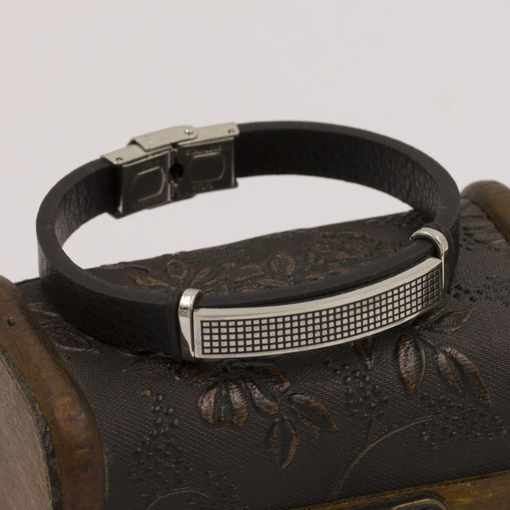 Bangle-Baiyu black leather simple bangle designs,turkish bangle