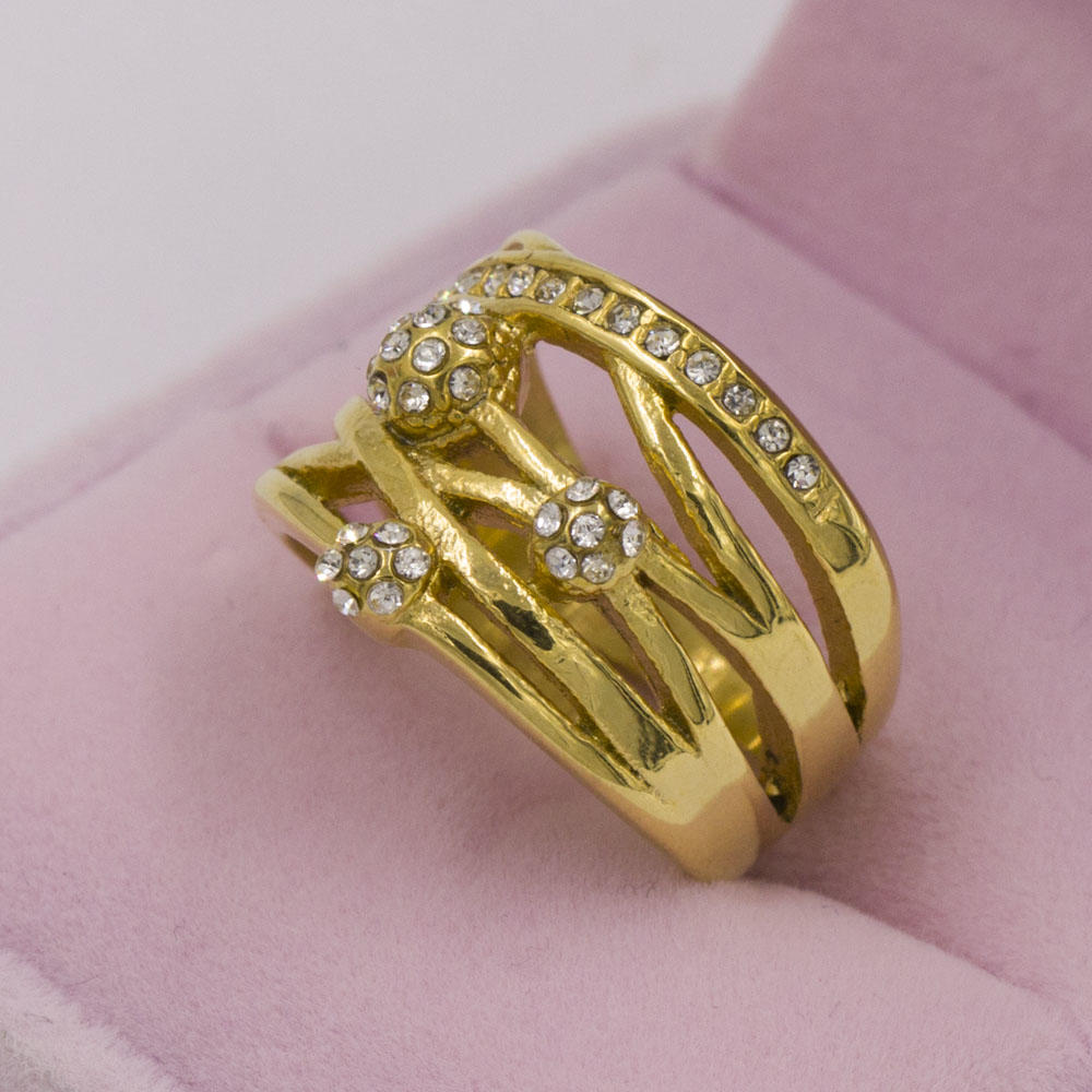 Manufacturers selling fashionable gold plated engagement and wedding ring for girl,custom ring in stainless steel