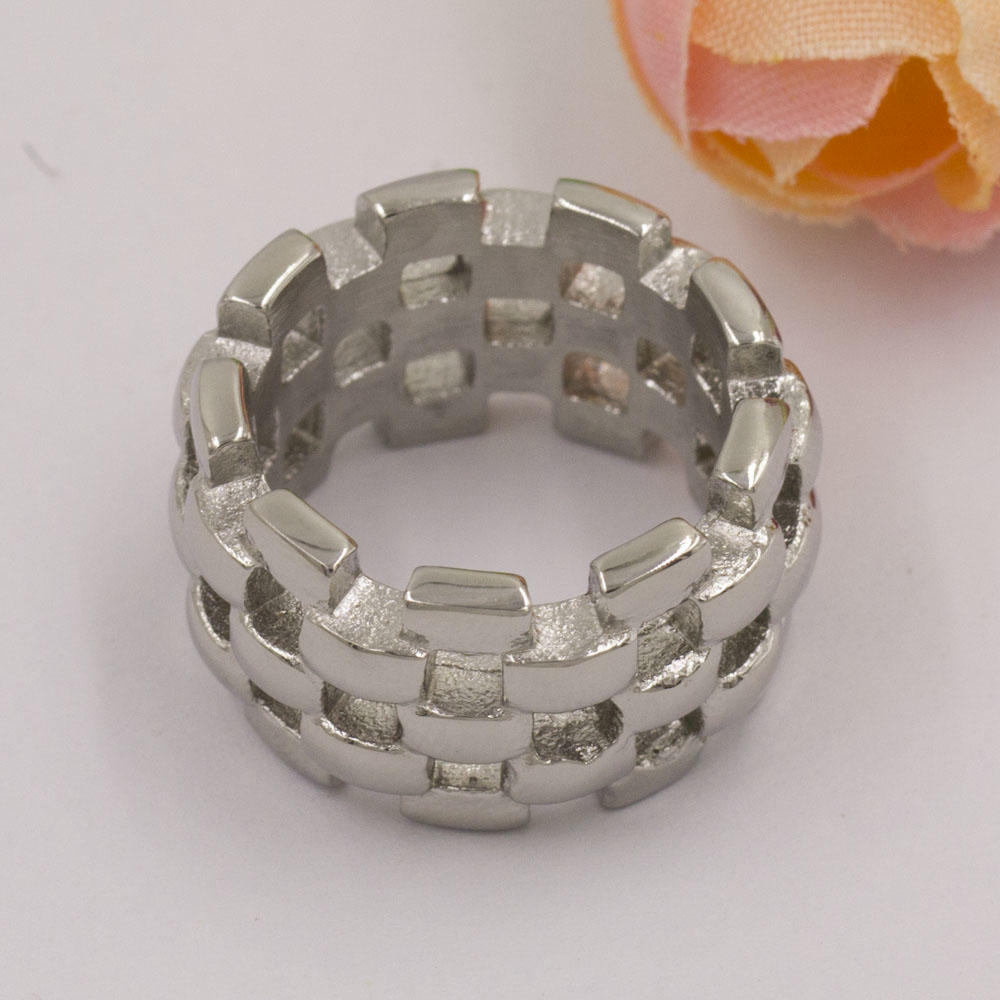 Chinese mesh factory price wholesale silver custom stainless steel ring for woman