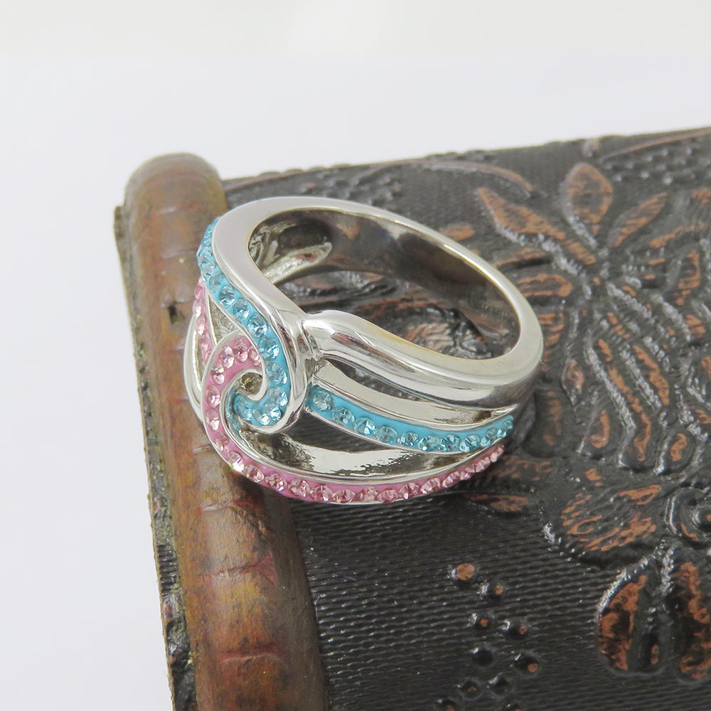 New design steel fashion ring with stone for women