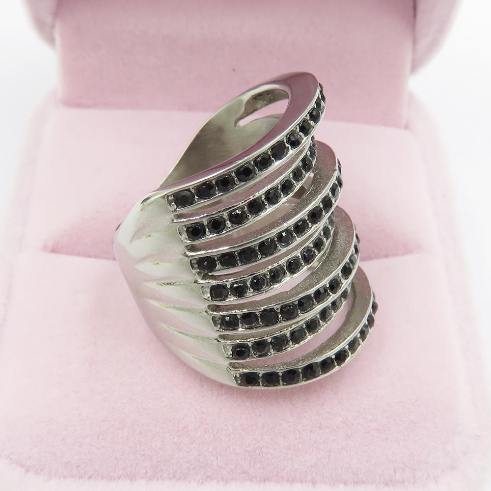 2018 new design stainless steel ring women rings jewelry women with ring women
