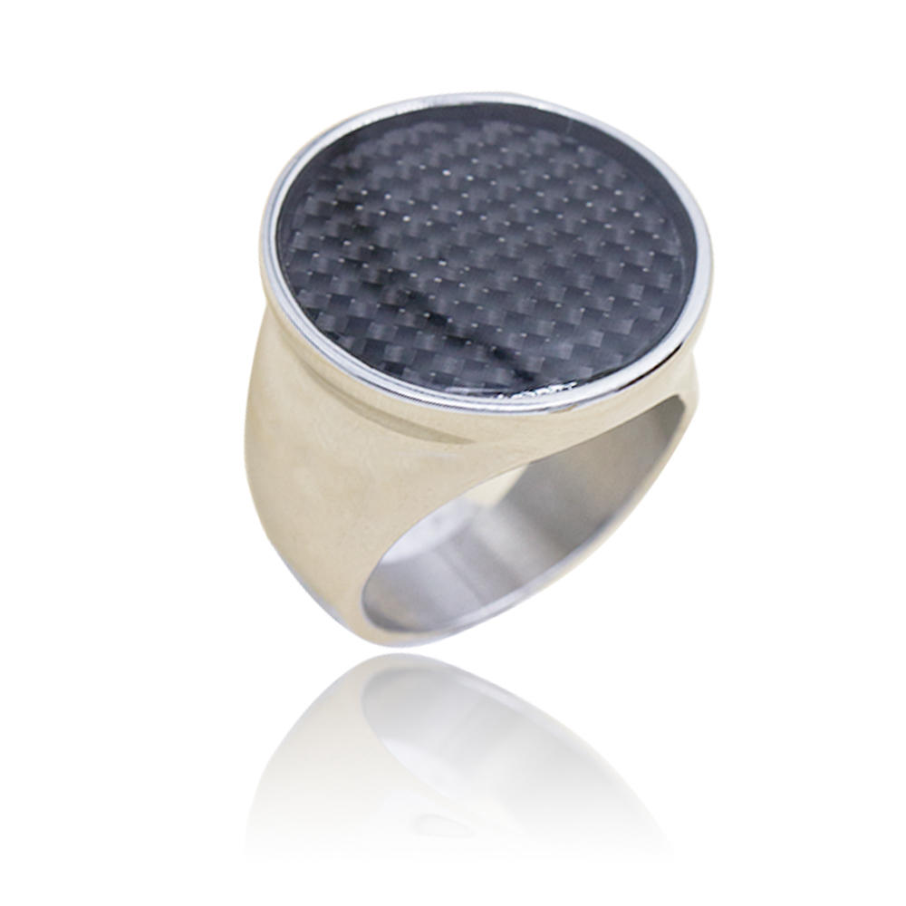Stainless steel natural stone  men's ring special design low price