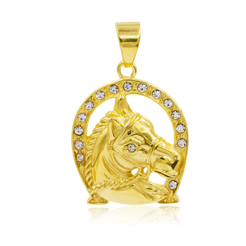Hot sale pendant chain necklace horse pendant metal pendant  VD057783-640