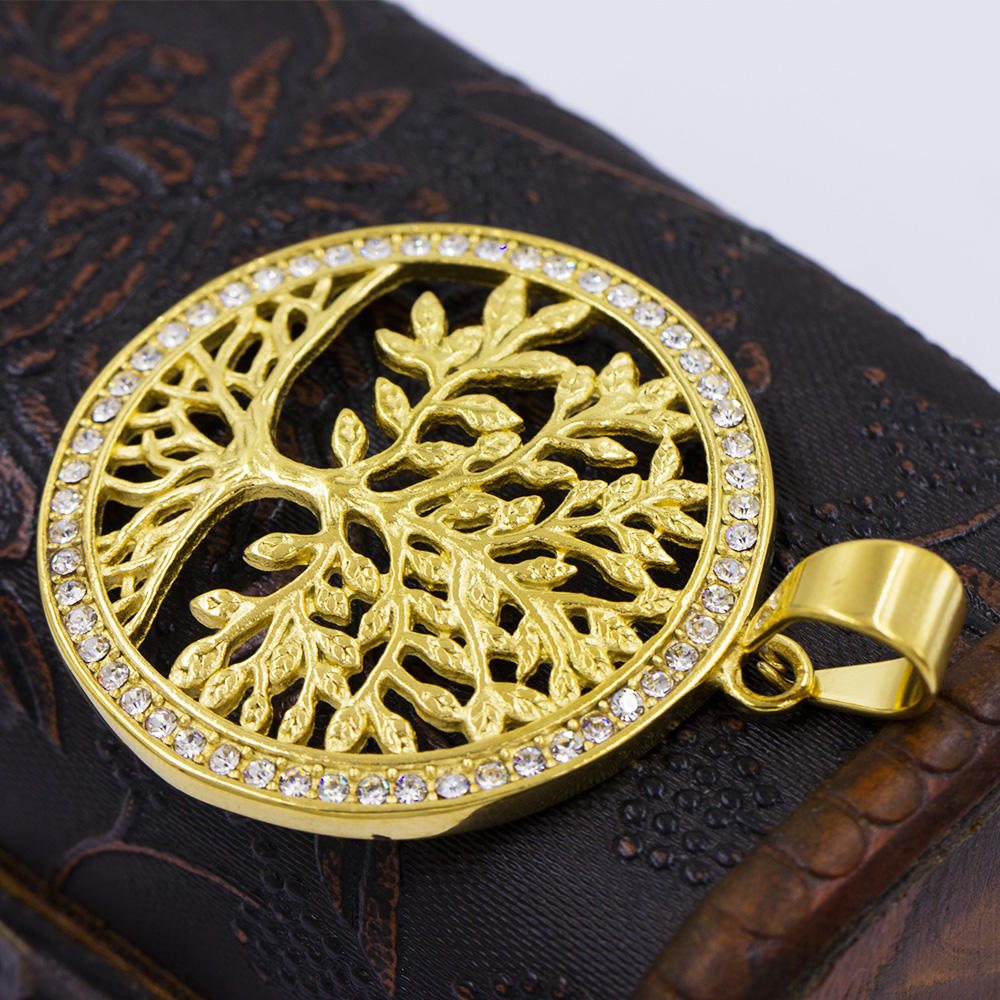 Custom metal pendant pendant tree with gold plated pendant necklace VD057787-640