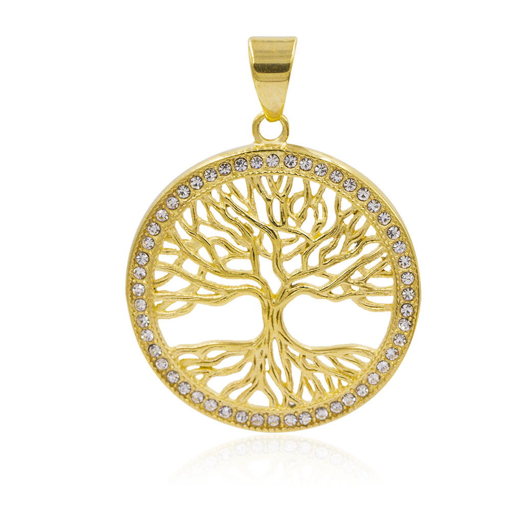 Custom stainless steel pendant simple gold pendant design necklace with pendant  VD057788-640