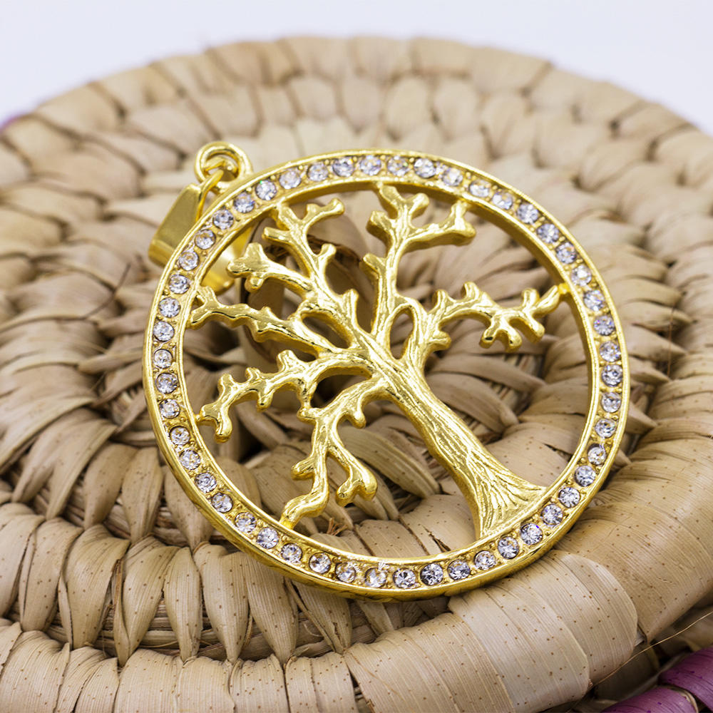 Custom pendant makers tree of  life pendant stainless steel pendant necklace VD057789-640