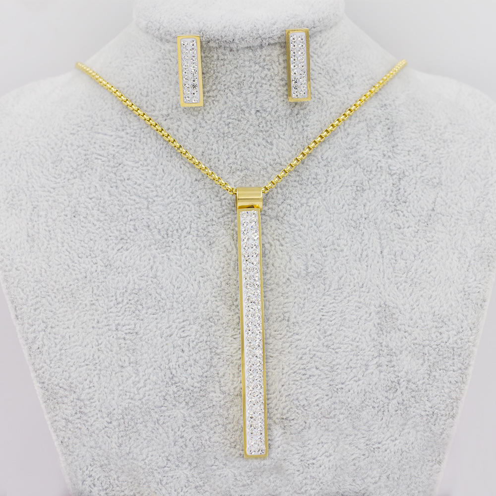 Noble crystal stone jewelry set,Chinese gold jewelry set AW00255aivb-371