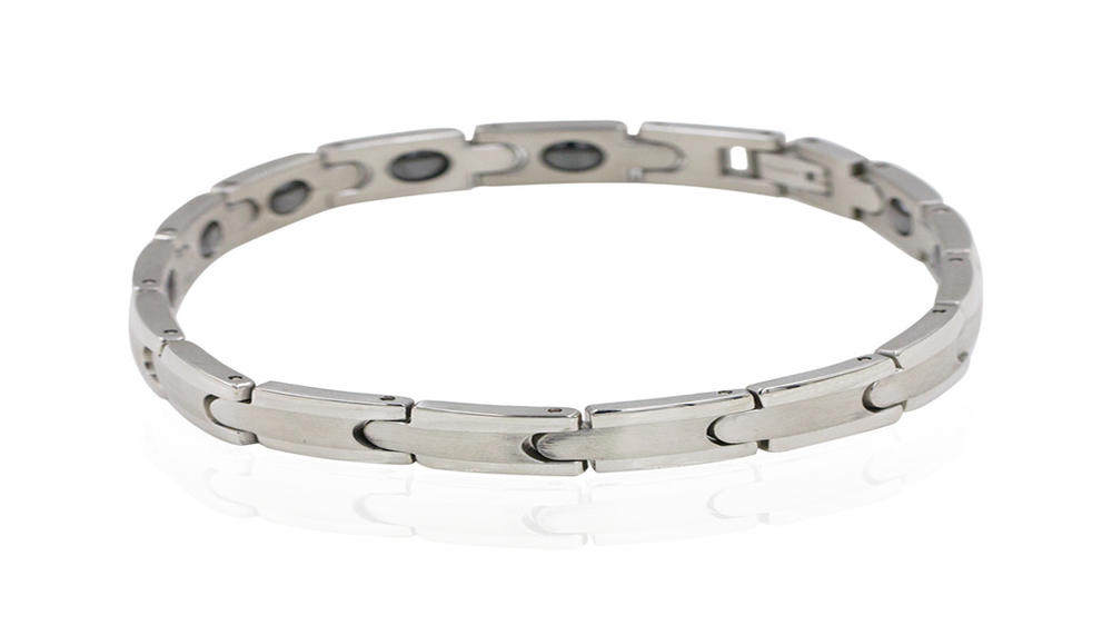 Silver wrist and health bracelet simple AW00382ahlv-244