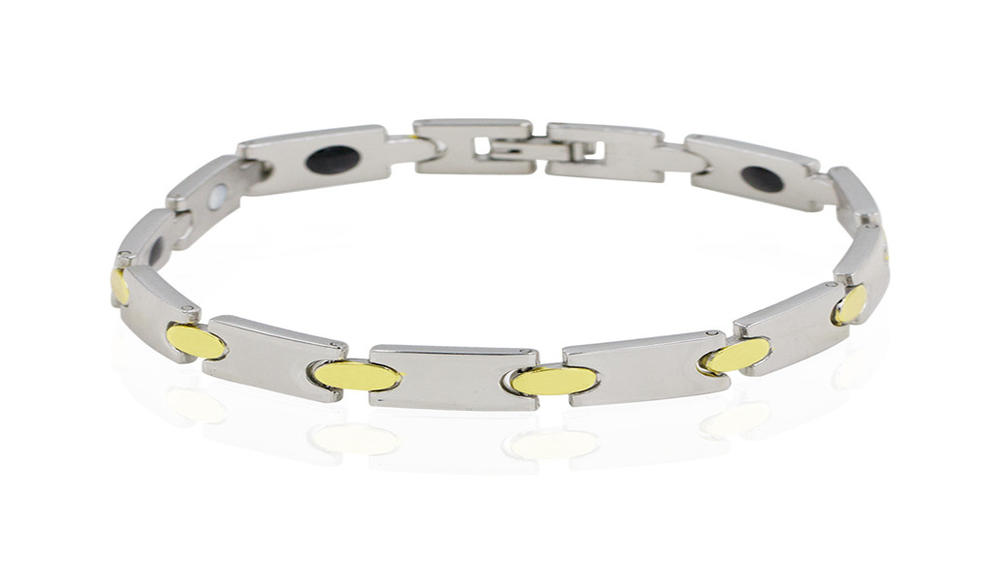 Magnetic gold tungsten bracelet,custom name bracelet AW00383bhva-244