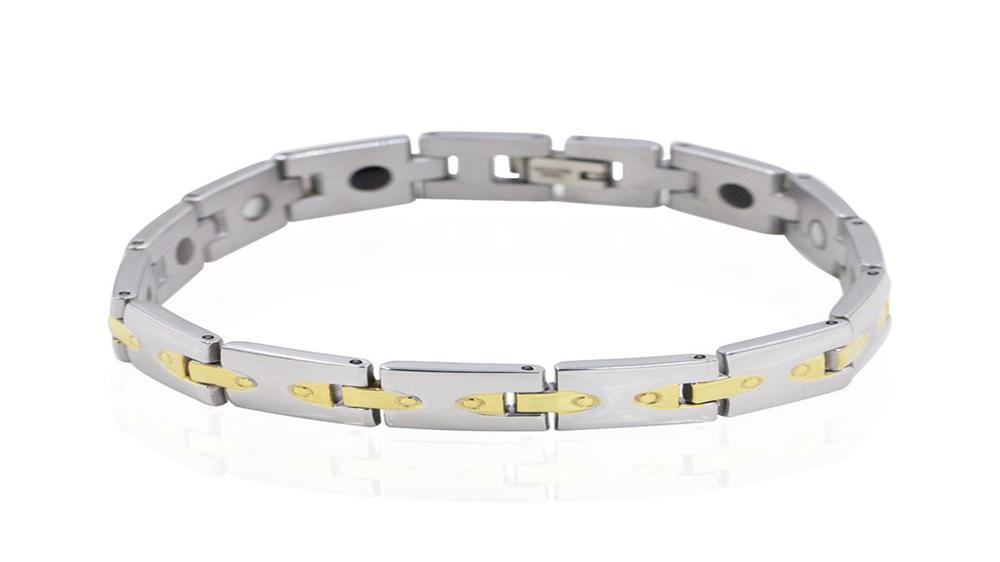 Magnet bracelet for unisex custom stainless steel bracelet AW00384vhkb-244