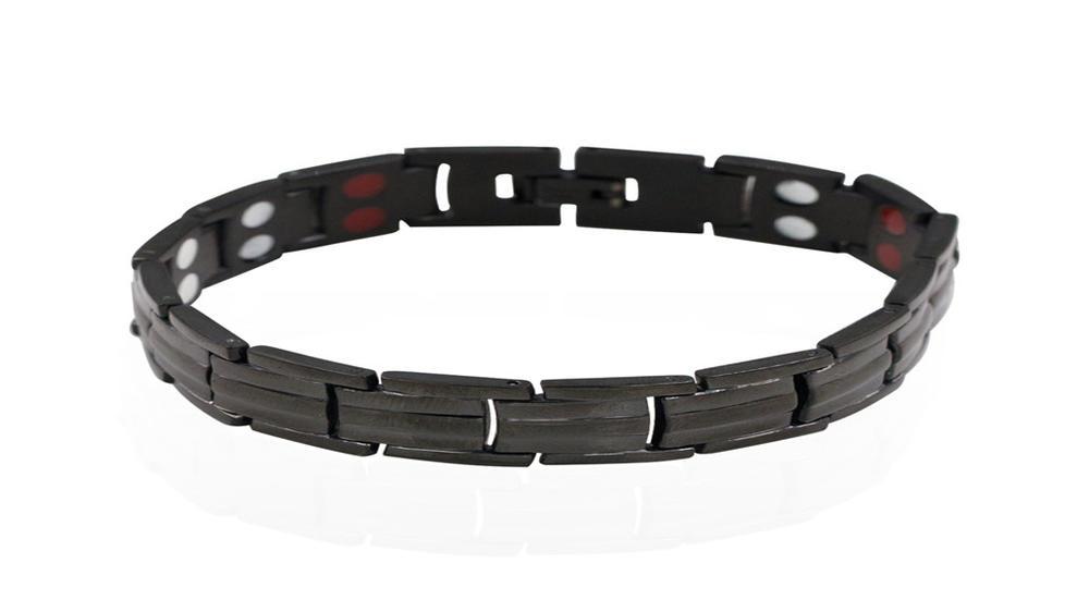 Black tourmaline bracelet men jewelry,energy bracelet health medical AW00385ahlv-244
