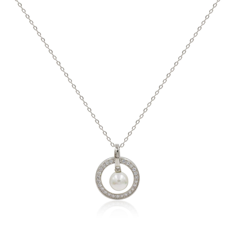 Fashion European Market Pearl Style 925 Silver Charm Necklace In 2019