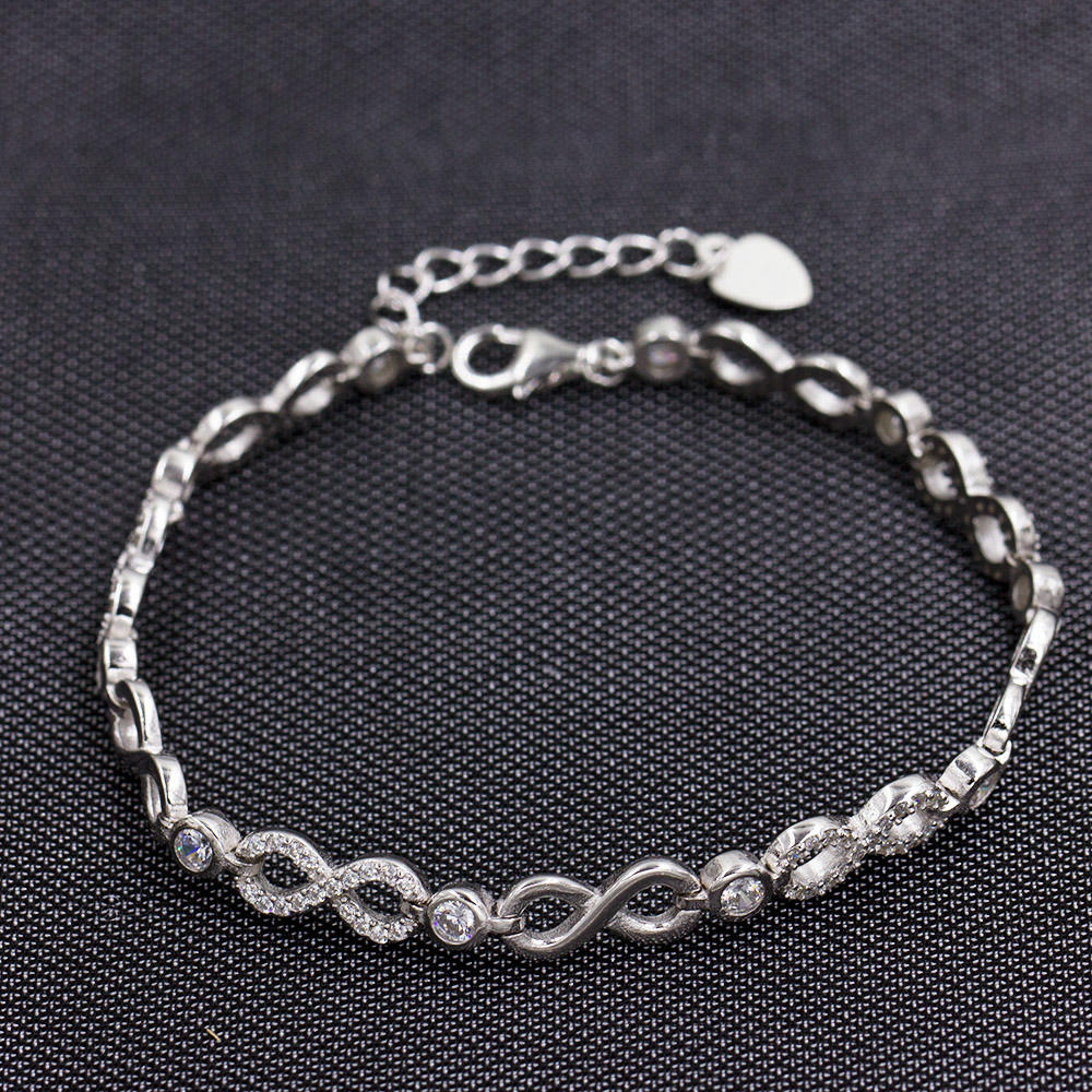 Nice Design And Original Stlyle 925 Sterling Silver Bracelet AS00036-L46