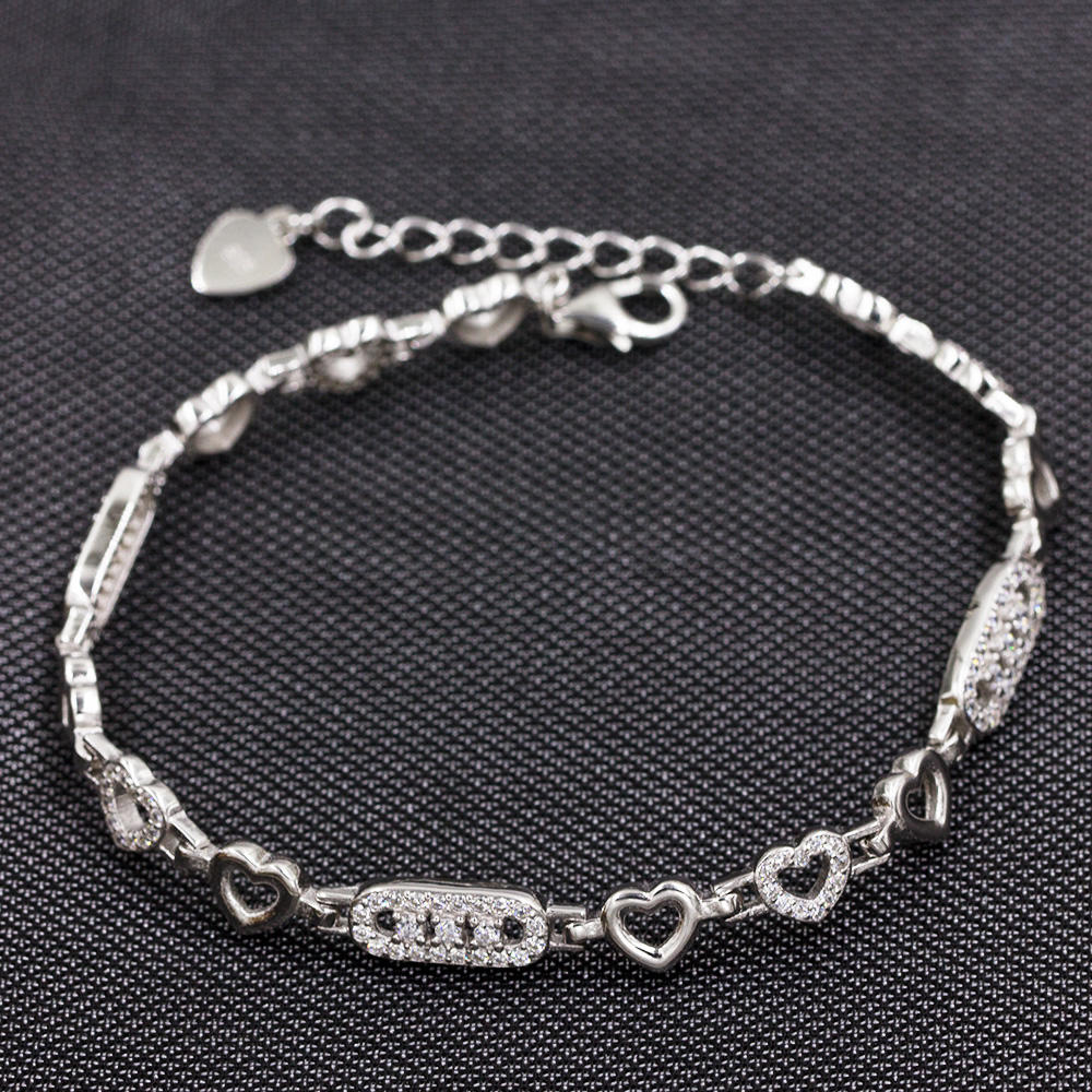 Fashionable 925 Sterling Silver Girls'S Bracelet  AS00037-L46