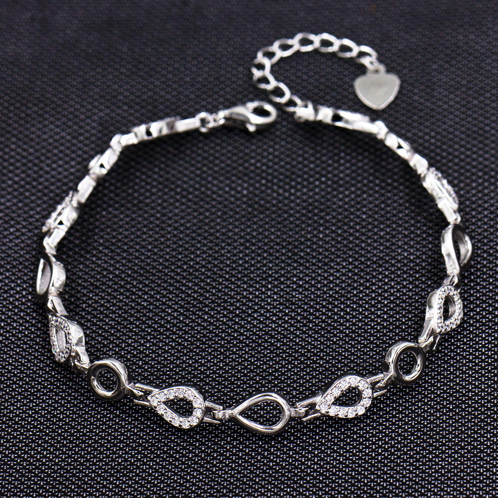 China Manufacturer 925 Sterling Silver Wholesale Bracelet AS00038-L46