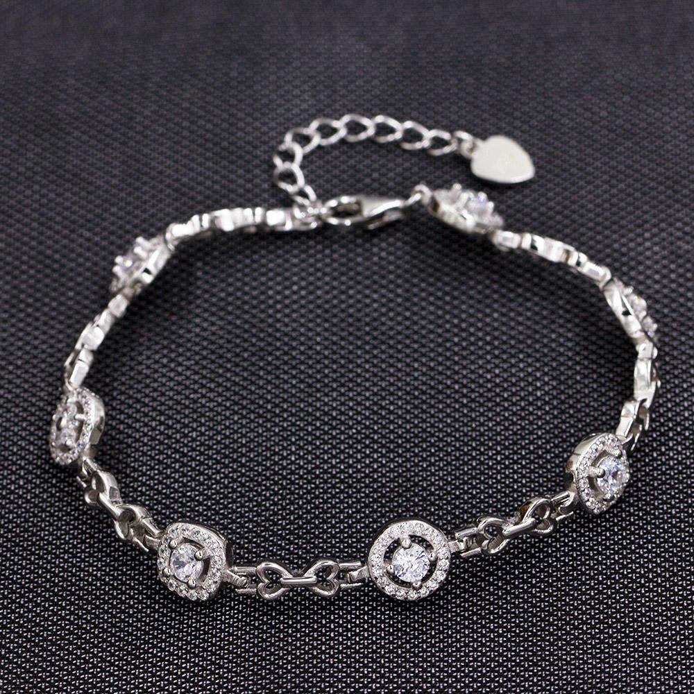 Amazon Wholesale Style Adjustable 925 Sterling Silver Bracelet  AS00042-L46