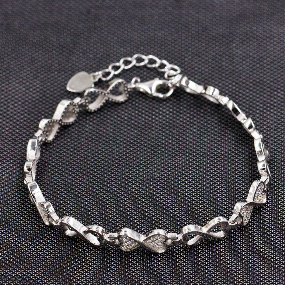 Oem And Odm Customizes 925 Sterling Silver Women Bracelet