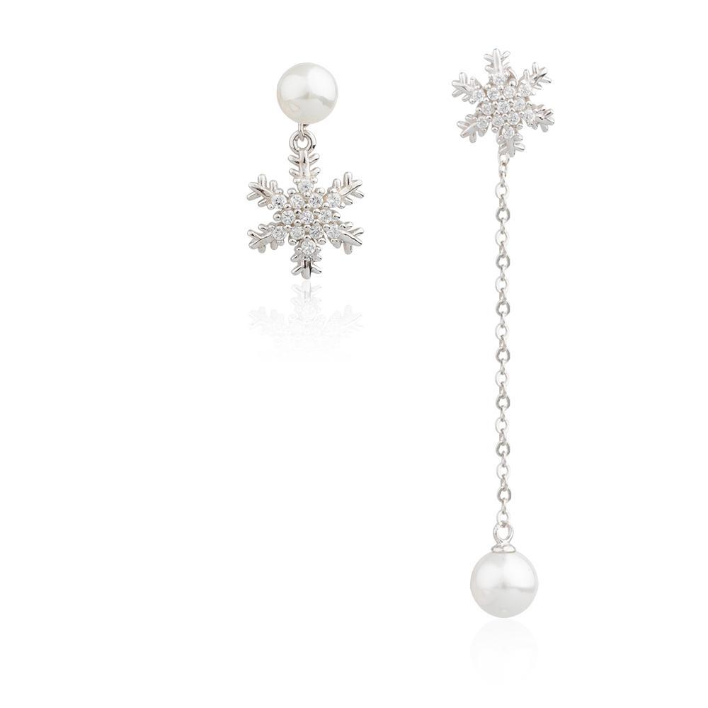 Charming Temperament New Fashion Zircon Pearl Earrings AE30076-M112